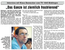 Interview mit Klaus Dannecker - Böblinger Bote, 15. April 2008